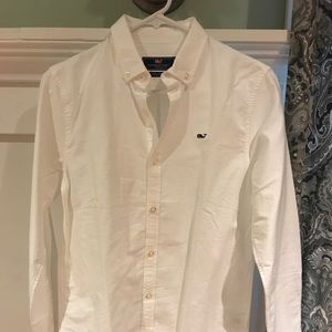Vineyard vines boys crisp white shirt